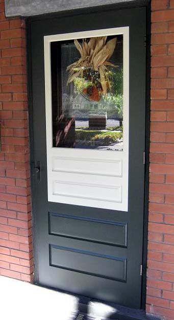 Wood screen door wooden combination storm doors for Door and screen door combo